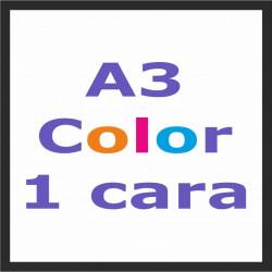 Impresión A3 Color 1 cara