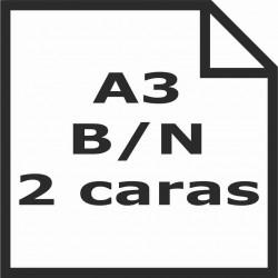 Impresión A3 b/n 2 caras
