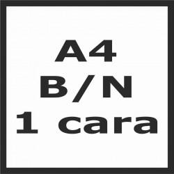 Impresión A4 b/n 1 cara